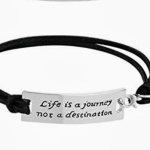 Genuine Leather Sterling Silver Inspo Bracelet